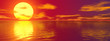 canvas print picture - Sonnenuntergang Banner
