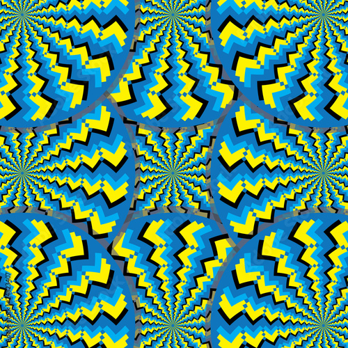 Wall Murals Psychedelic Tribal Spin Mania (motion illusion)