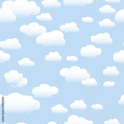 Papiers peints Ciel Clouds - Seamless Pattern