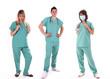 Leinwandbild Motiv Pfleger und schwestern