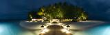 Fototapeta Fototapety z morzem - Ihuru Island panoramic view by night