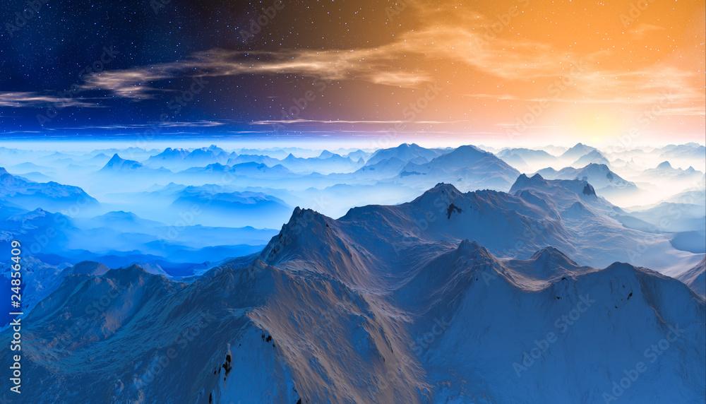 Fototapeta blue Glacier