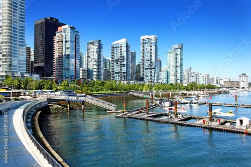 Fotografía  Vancouver Skyline mit Coal Harbour, Kanada