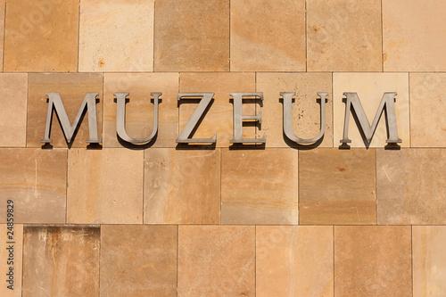 Stampa su Tela Museum inscription