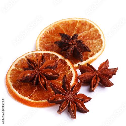 Fényképezés  Plastry momarańczy i anyż