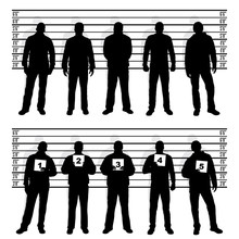 Police Line Up Silhouette