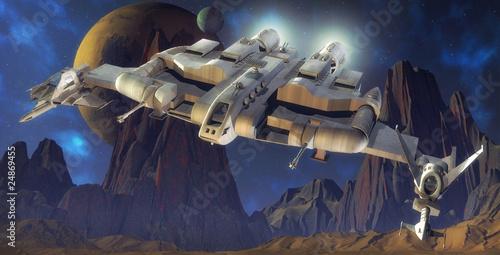 statek-kosmiczny-i-obca-planeta