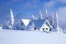 Cottage In Winter, Orlicke Hor...