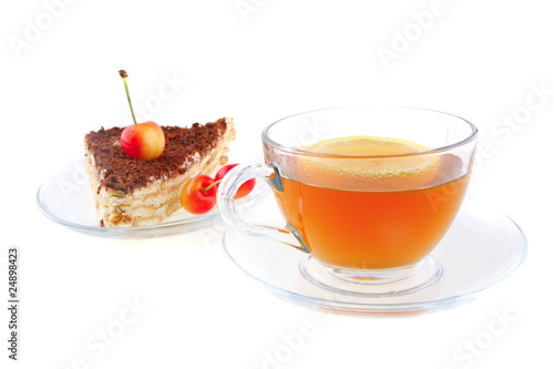Stickers pour porte The tea and cherry cake
