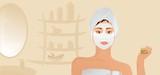 Fototapeta Sypialnia - Healthy Girl With Facial Mask
