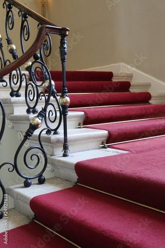 Foto op Plexiglas Trappen Geschmiedetes Treppengeländer