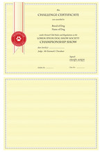 Certificate, Blank For Your Content Or With Sample Text