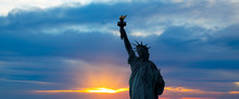 The Silhouette Of Statue Of Liberty