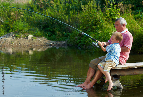 Tuinposter Vissen Weekend fishing