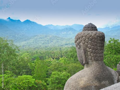 Tuinposter Boeddha Borobudur, Java, Indonesia