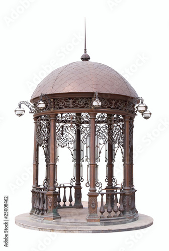 Fotografie, Tablou Red marble arbour | Isolated