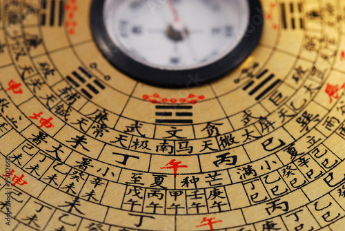 Photo  Chinese Feng Shui compass