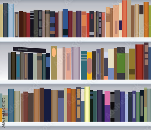 Poster Bibliotheque vector modern bookshelf