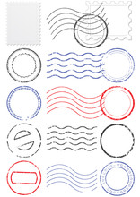 Vector Set Of Different Postma...