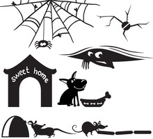 Cute Silhouettes On The Home Theme