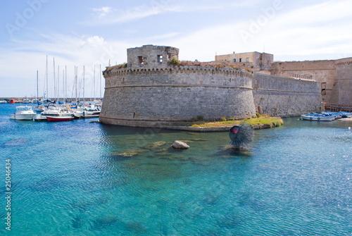 Foto auf Gartenposter Stadt am Wasser Gallipoli, Castello