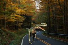 Monolophosaurus On The Road