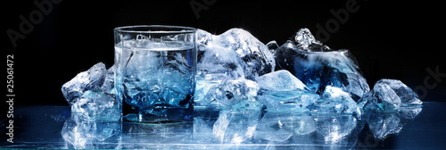 Photographie glass with ice