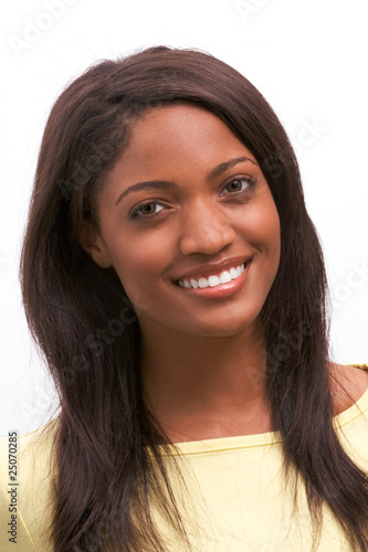 Young ethnic black African American woman smiling Plakát
