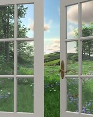 FototapetaCountryside Window View