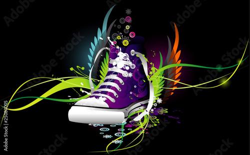 sneaker abstract vector illustration