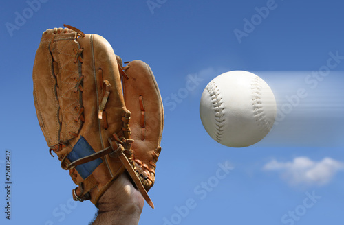 baseball catch Canvas Print