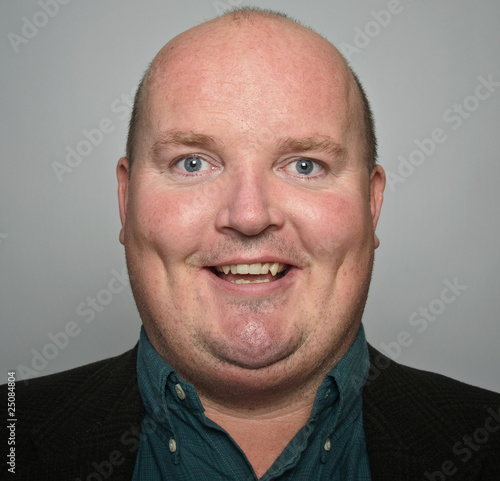 Valokuva  portrait smiling middle age man close up