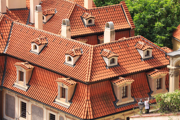 The View on old Prague's Roofs