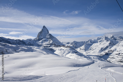 Photo  Panoramic view with Matterhorn