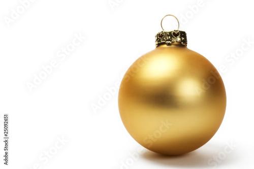 Obraz matte goldene christbaumkugel - fototapety do salonu