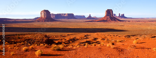 Tuinposter Baksteen Monument Valley Sunset Panorama