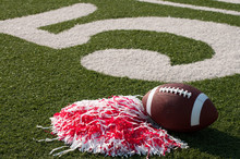 American Football And Pom Poms...