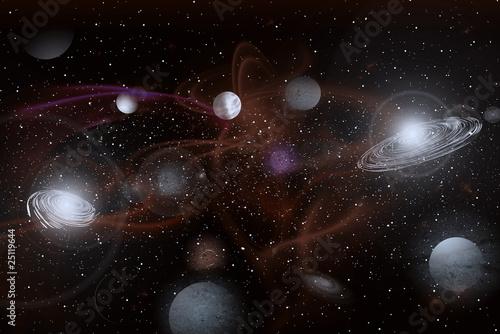 Fototapeta Galactic Storm obraz na płótnie