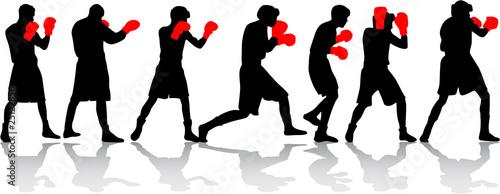 Photo  boxing fight