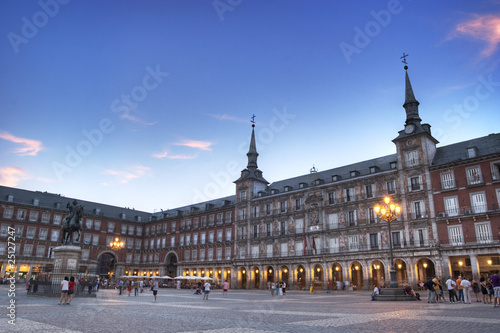 In de dag Madrid Plaza Mayor in Madrid Spain