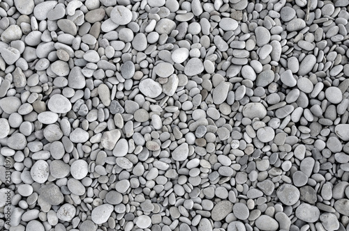 Plissee mit Motiv - pebbles background