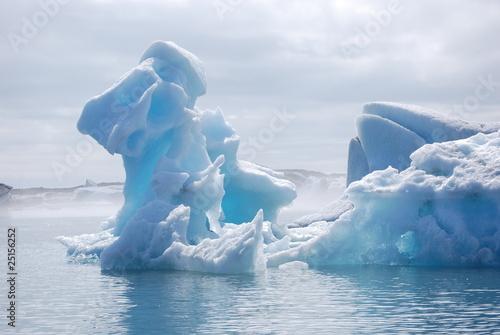 In de dag Gletsjers Glacial Lagoon