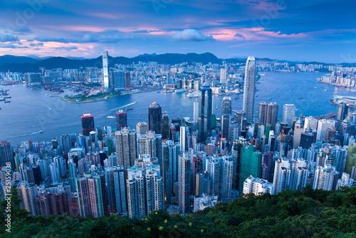 Photo  Hongkong Sonnenuntergang