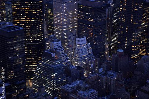 Fotografie, Obraz  Aerial closeup in Manhattan