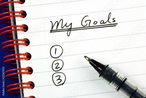Fotografie, Obraz  My goals list concepts of target and objective