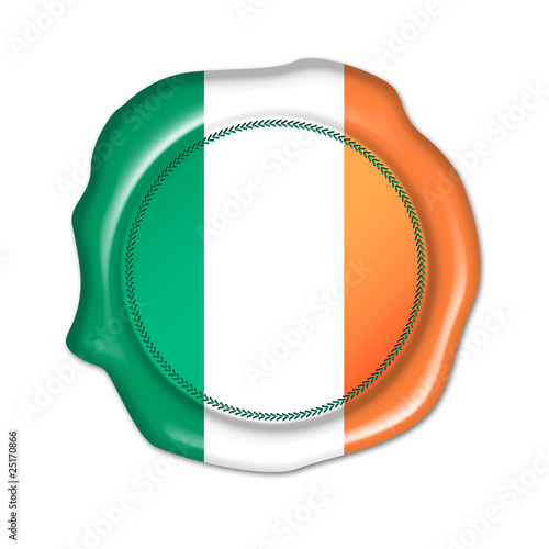 ireland button, stamp, seal Poster