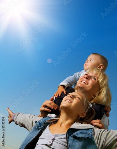 Fototapeta Healthy Family Outdoor obraz na płótnie