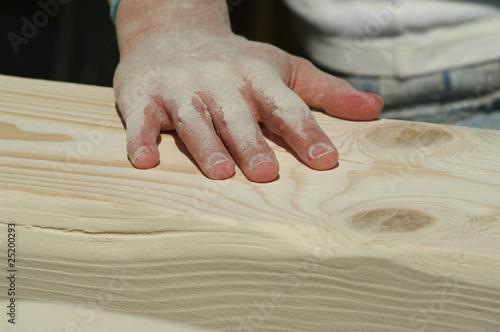 Fotografering  travail du bois