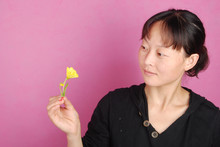 Asia Woman With Flower
