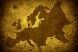 Grunge european map